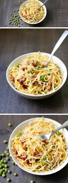 You'll love this super easy pasta dish that comes together in less than 15 minutes! LINGUINI CARBONARA is creamy, cheesy, and oh so delicious!