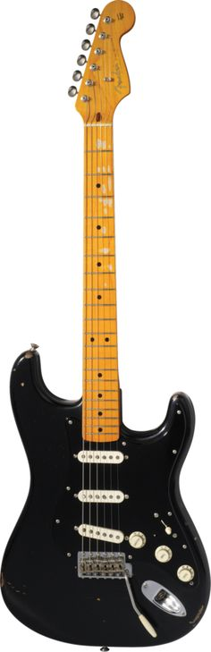 The only strat I'll ever want. The David Gilmour Signature Stratocaster® Black with few adjustments like black lock-in tuner pegs, EMG Pickups, black volume knobs, & to top it off with a brushing Matte paint job