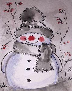 Christmas canvas art for kids 16 Ideas Christmas Canvas Art, Watercolor Christmas Cards, Christmas Paintings, Watercolor Cards, Watercolor Paintings, Christmas Crafts, Christmas Decorations, Handmade Christmas, Watercolour