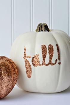 Fall Glitter Pumpkin