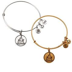Cinderella Castle Bangle by Alex and Ani - Walt Disney World | Disney Store Cinderella Castle provides this Walt Disney World Bracelet with royal charm. Created by designers Alex and Ani in a gold or silver finish, it's ''infused with the power of positive energy,'' and has a sliding mechanism for a perfect fit.