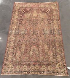 Laver Kerman meditation carpet   Southeast Persia, late 19th century   Inscribed.   7 ft. 1 in. x 4 ft. 5 in.  - FREEMAN'S