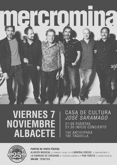 Mercromina en Albacete, Viernes, 7 de Noviembre de 2014 a las 21:00 h |ticketea.com
