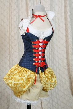 Waist 31 to 33 Steampunk Snow White Full by damselinthisdress