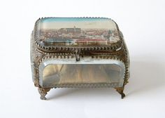 Antique jewelry box small trinket box by thehopetree on Etsy