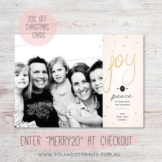Polkadot Prints Christmas Card Sale - 20% off by entering MERRY20 at checkout.   Merry Christmas!
