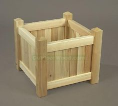 wooden flower boxes | Wood Flower Box or Planter Box Image