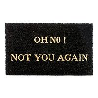 This would be funny to have welcoming people at the front door! OH NO NOT YOU AGAIN DOORMAT|UncommonGoods