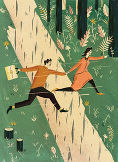 Adam Hancher #illustration #nature #people