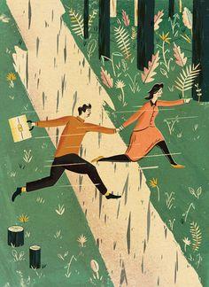 Adam Hancher #illustration #nature #people
