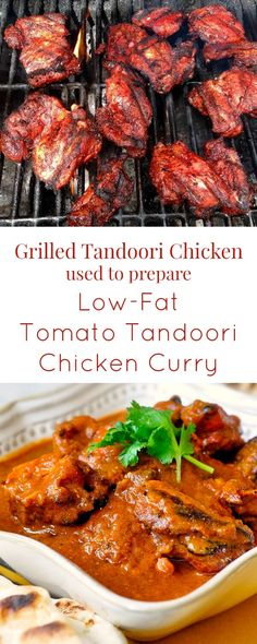 Low Fat Tomato Tandoori Chicken Curry - This tasty low fat version of tandoori chicken curry was created as a lower calorie option to butter chicken but with plenty of the spicy flavor punch  you love.