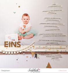 Inspirationsgalerie - Layout Werkstatt - Scrapbook Werkstatt - Layout mit großem Foto und viel Journaling von Ulrike Dold