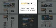 News World | News Magazine PSD Template . 1.