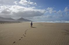 "Fuerteventura is one of the Canary Islands, its name can be translated as ""strong winds."" The photographer writes that this is Cofete beach:..."
