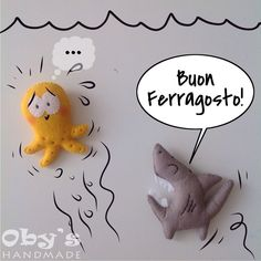 Felice ferragosto! ❤️ #ferragosto #mare #pesci #squalo #polipo #feltro #pannolenci #fattoamano #vignetta #octopus #shark #drawing #sea #handmade #felt #obyshandmade #feltmobile Felt Fish, Dinosaur Stuffed Animal, Christmas Ornaments, Drawing, Toys, Holiday Decor, Home Decor, Feltro, Sailor