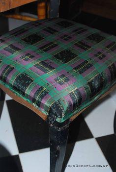 Un blog dedicado al diseño, reciclado y restauración. Vanity Bench, Inspiration, Furniture, Home Decor, Ideas, Blog, Chair Upholstery, Chairs, Tela