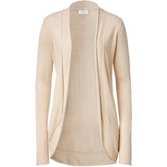 STEFFEN SCHRAUT Almond Cozy Rolled Edge Cardigan ($133) ❤ liked on Polyvore featuring tops, cardigans, sweaters, outerwear, jackets, cropped cardigan, pink cropped cardigan, layered crop top, long crop tops and embellished cardigans