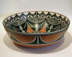 Native American Pottery. Tom Tenorio, Santo Domingo Pueblo.