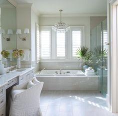 Board and Batten Bathtub with Marble Tub Deck - Cottage - Bathroom Drop In Bathtub, Bathtub Tile, Built In Bathtub, Zen Bathroom, Bathroom Renos, Bathroom Ideas, Bathroom Designs, Bathroom Plans, Bathroom Showers
