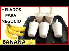 DELICIOSOS HELADOS CASEROS CREMOSOS DE BANANA/ HELADOS DE BANANA - YouTube Banana Ice Cream, Homemade Ice Cream, Gelato, Deserts, Cooking, Recipes, Food, Youtube, Ideas