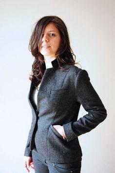ladulsatina - Sewing blog - Self-drafted blazer in wool and silk
