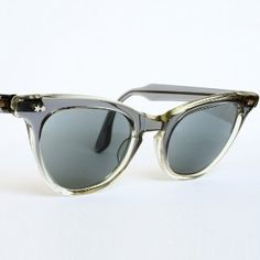 vintage gray cats eye sunglasses | Clear Grey Blue Cat Eye Glasses or Sunglasses Frames