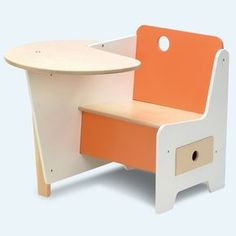 Cameron Contemporary Wooden Kids Home Furniture Design, Doodle Drawer Desk by Roberto Gil - New Yorks Home, Design and Gifts Market New York Markt School Furniture, Kids Furniture, Modern Furniture, Furniture Design, Furniture Online, Furniture Websites, Furniture Dolly, Furniture Stores, Orange Furniture