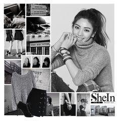 """""""SheIn Set / Grey Sweater"""" by kiwiootori ❤ liked on Polyvore featuring WithChic, Chicwish and Yves Saint Laurent"""
