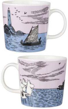 Night Sailing Mug - Moomin Moomin Mugs, Typo Design, Tove Jansson, Cute Kitchen, Tea Cozy, Porcelain Mugs, Finland, Illustration Art, Illustrations