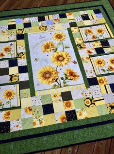 Sunflower I/'ll Love You Forever My Mommy 60-102 Washable PreShrunk Quilt 3 Sizes
