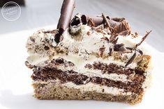 Tort cappuccino   Ulubione przepisy Dessert Recipes, Desserts, Biscotti, Tiramisu, Nutella, Food And Drink, Sweets, Sugar, Cakes