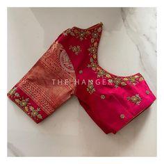 Hand Work Blouse Design, Simple Blouse Designs, Stylish Blouse Design, Fancy Blouse Designs, Bridal Blouse Designs, Blouse Neck Designs, Traditional Blouse Designs, Long Dress Design, Embroidery Neck Designs