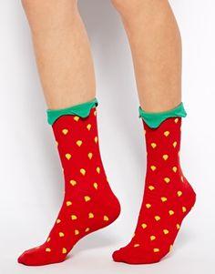 ASOS - Socquettes à motif fraise