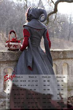 Little Red Riding Hood Coat Costume woolen coat fairy by armstreet