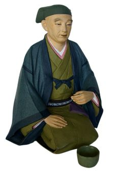 JAPANESE HAKATA DOLLS | Rikyu, Japanese clay figurine, antique. Japanese dolls and hakata ...