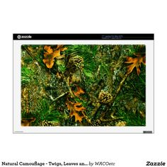 Natural Camouflage - Twigs, Leaves and Pinecones Decals For Laptops