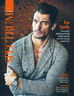 An Emporio Armani Clad David Gandy Covers Spectrums Latest Issue - The Fashionisto: The Latest in Fashion from Runway to Print