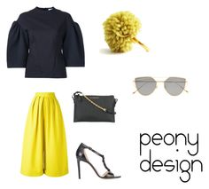 """""""Peony Design"""" by teri-peony on Polyvore featuring Bianca Spender, Delpozo, Burberry, Altuzarra and Gentle Monster"""