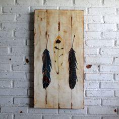 woodpainting 40 x 80 x 2 cm  #woodsign #painting #homedecoration #homeandliving #jogja #vintage #interior #livingroom #homedesign #feathers
