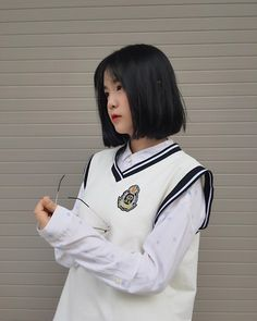 Cute Korean Girl, South Korean Girls, Korean Girl Groups, Asian Girl, Korea Fashion, Kids Fashion, Korean Short Hair, Girl Couple, Uzzlang Girl