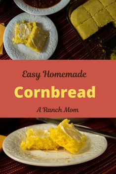 This easy homemade cornbread recipe has been my go-to for many years. Just in time for all the fall and winter stews and soups! Bread Recipes, Soup Recipes, Homemade Cornbread, Food For A Crowd, Brunch Ideas, Meals For One, Soups And Stews, Food Print, Ranch