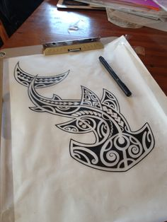 Darryll Richards #sketch #shark #hammerhead #polynesian #polynesiantattoo #tribal #tribaltattoo #blackwork #tattooideas #tattoodesign #tattootime #drawingtime #mantratattoo