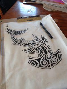Darryll Richards #sketch #shark #hammerhead #polynesian #polynesiantattoo…