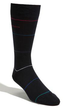 $12 - Hugo Boss - Black Stripe Socks