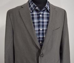 MINT BANANA REPUBLIC mens gray wool sport coat blazer jacket 44R 44 regular R #BananaRepublicModernFit #TwoButton