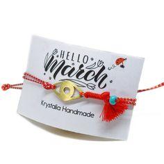 Evil Eye Bracelet, Greece, Place Cards, March, Place Card Holders, Bracelets, Handmade, Greece Country, Hand Made