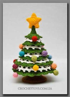 Knitted Christmas Tree arvore de natal em croche linda