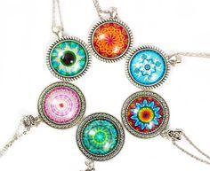Eye mandala necklace  Mandala pendant  by LifelikeJewelryShop