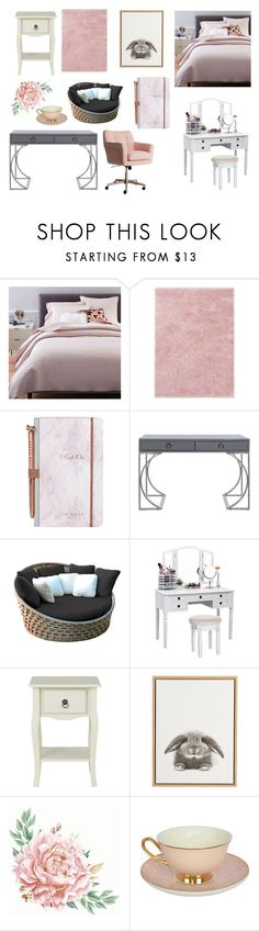 """Kristal's Dorm"" by bellalestrange49 on Polyvore featuring interior, interiors, interior design, home, home decor, interior decorating, West Elm, Ted Baker, Worlds Away and Skyline"
