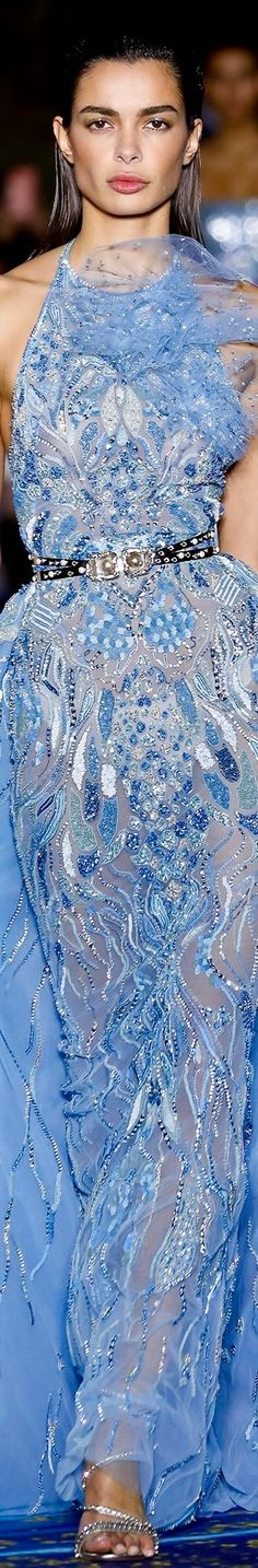 ZUHAIR MURAD SPRING/SUMMER  2019 COUTURE Love And Light, Peace And Love, Peace Meaning, Light Blue Dresses, Zuhair Murad, Couture, Runway Fashion, Powder, Spring Summer